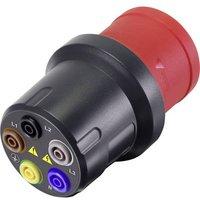 VOLTCRAFT;VMA-3L 32;Test lead adapter;CEE plug (5-pin, 32 A) - 4 mm socket;Dark grey, Red