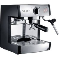 Graef ES702EU01 Espresso machine with sump filter holder Stainless steel, Black 1410 W incl. pressure brew unit, incl. frother nozzle, incl. milk jug