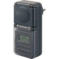 Brennenstuhl 1506706 Timer/power strip digital 24h mode IP44 Programmable ON/OFF settings , Daylight savings control, RND mode