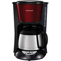 Morphy Richards Coffee maker Stainless steel, Red Thermal jug, Plate warmer, Timer, Display