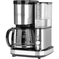 GourmetMaxx Barista Coffee maker Stainless steel, Black Cup volume=10 incl. grinder