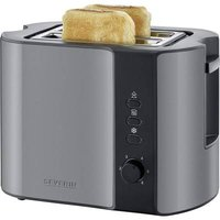 Severin AT 9541 Toaster with home baking attachment Grey (metallic), Black