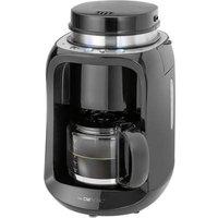 Clatronic KA 3701 Coffee maker Black Cup volume=6 incl. grinder, Glass jug