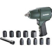 Metabo DSSW 360 Set 604118500 Pneumatic impact driver Tool holder: 1/2 (12.5 mm) male square Torque (max.): 360 Nm incl. accessories