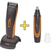 Aeg Hsm/r5597 Hair Clipper, Beard Trimmer, Ear/nose Hair Trimmer Black, Orange
