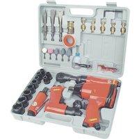 Brueder Mannesmann Pneumatic tool set 1/2 (12.5 mm) male square 8 bar incl. case