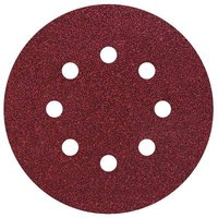 Wolfcraft 2251100 Router sandpaper Hook-and-loop-backed, Punched Grit size 120 (Ø) 125 mm 25 pc(s)