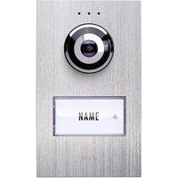 m-e modern-electronics Vistadoor VDV 610 compact Video door intercom Corded Outdoor panel Detached Stainless steel