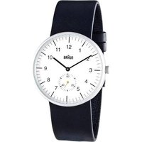 Braun Classic Black And White Watch With Leather Strap (bn0024whbkg)