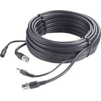 Sygonix 43522D Current, VHS Cable extension [1x BNC plug, DC 5.5 mm socket - 1x BNC plug, DC 5.5 mm plug] 30.00 m Black