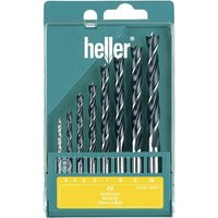 Heller 205241 Wood twist drill bit set 8-piece 3 mm, 4 mm, 5 mm, 6 mm, 7 mm, 8 mm, 9 mm, 10 mm Cylinder shank 1 Set