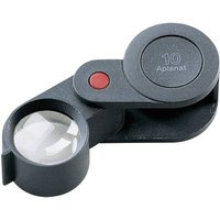 Eschenbach 118210 Folding hand magnifier Magnification: 10 x Lens size: (Ø) 23 mm Black