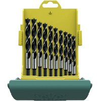 Heller 24646 0 Wood twist drill bit set 10-piece 3 mm, 4 mm, 5 mm, 6 mm, 7 mm, 8 mm, 9 mm, 10 mm, 11 mm, 12 mm Cylinder shank 1 Set
