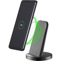 CELLULAR LINE Wireless Fast Charger Stand - Kabelloses Ladegerät (Schwarz) (WIRELESSTANDTYCK)