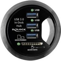 In-Desk Hub 3 Port USB 3.0 + 2 Slot SD Card Reader