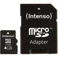 Intenso High Performance microSDHC-Karte 4GB Class 10 inkl. SD-Adapter