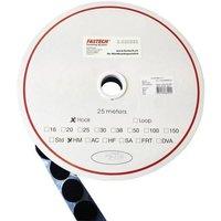FASTECH® T01025999903C1 Klettpunkt zum Aufkleben Hotmelt Haftteil (Ø) 25mm Schwarz