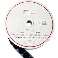 FASTECH® T02025999903C1 Klettpunkt zum Aufkleben Hotmelt Flauschteil (Ø) 25mm Schwarz