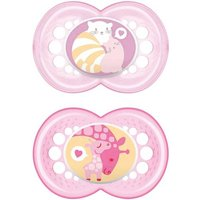 mam - lot de 2 sucettes - +16 mois - fille - rose - sans bisphenol a