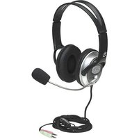 Manhattan Classic Stereo Headset HiFi Over Ear Stereo-Headset Over Ear Lautstärkeregelung Schwarz