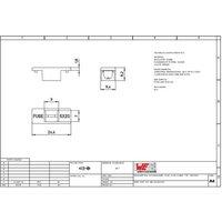 Würth Elektronik Sicherungs-Abdeckung Passend für (Sicherungen) Feinsicherung 5 x 20mm