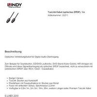 LINDY 35211 Audio Anschlusskabel