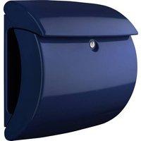 Burg Wächter PIANO 886 Marine Blue Briefkasten Kunststoff Blau