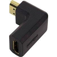 LogiLink AH0005 HDMI Adapter [1x HDMI-Stecker - 1x HDMI-Buchse] Schwarz 90° nach links gewinkelt