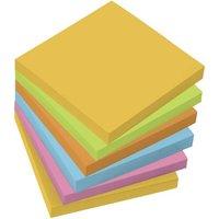 Sigel Haftnotiz MU120 75mm x 75mm Gelb, Grün, Orange, Blau, Pink 100 Blatt