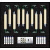 Lumix 74422 Funk-Weihnachtsbaum-Beleuchtung Innen/Außen batteriebetrieben Anzahl Leuchtmittel 10 LE