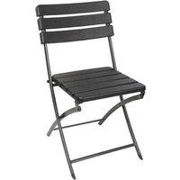 Perel folding chair wood Camping Stuhl Schwarz FP165W Belastbarkeit (Gewicht) (max.) 300kg