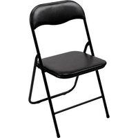Perel folding chair padded Camping Stuhl Schwarz FP168B