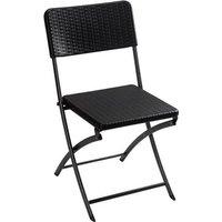 Perel folding chair rattan Camping Stuhl Schwarz FP165R Belastbarkeit (Gewicht) (max.) 300kg