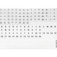 Legrand 004999 004999 Etiketten für Kennzeichnungsträgersystem Weiß