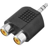 LogiLink Klinke / Cinch Audio Adapter Schwarz