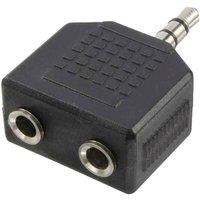 LogiLink CA1002 Klinke Audio Adapter Schwarz