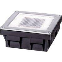 Paulmann Cube 93774 Solar-Einbauleuchte 0.24W Warmweiß Edelstahl
