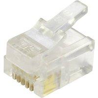BEL Stewart Connectors Modular-Stecker ungeschirmt für Flachkabel Stecker, gerade Pole: 6P6C 940-SP