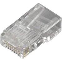MH Connectors RJ45-Modularstecker Stecker, gerade Pole: 8P8C MHRJ458P8CR Transparent 6510-0104-01