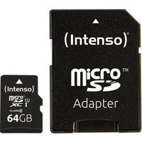 Intenso Professional microSDXC-Karte 64GB Class 10, UHS-I inkl. SD-Adapter