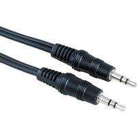 Hama Klinke Audio Anschlusskabel [1x Klinkenstecker 3.5mm - 1x Klinkenstecker 3.5 mm] 1.50m Schwarz