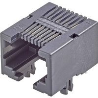 FCI RJ45-Einbaubuchse Buchse, Einbau horizontal Pole: 8P8C Modular jacks Schwarz 54601-908WPLF