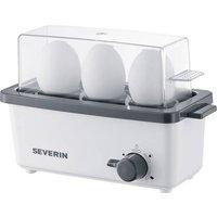 Severin EK 3161 Eierkocher mit Eierstecher Weiß, Grau