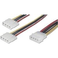 Digitus Computer, Laufwerk, Strom Y-Kabel [1x IDE-Strom-Stecker 4pol. - 2x IDE-Strom-Buchse 4pol.] 2