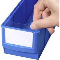 Allit 456596 Beschriftungsetiketten für Lagersichtboxen ProfiPlus ShelfBox Label S Weiß, Transpare