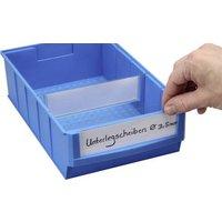 Allit 456597 Beschriftungsetiketten für Lagersichtboxen ProfiPlus ShelfBox Label B Weiß, Transpare