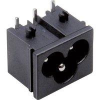 TRU Components Kaltgeräte-Steckverbinder Stecker, Einbau horizontal Gesamtpolzahl: 2 + PE 2.5A Schw