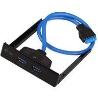 I-tec U3EXTEND USB 3.0-Fronteinschub-Hub Schwarz, Blau