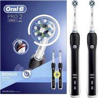 Oral-B Elektrische Zahnbürste Pro 2900 Cross Action Rotierend/Oszilierend Schwarz/Weiß