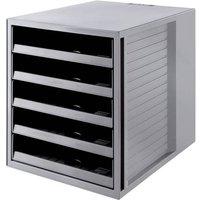 HAN KARMA 14018-18 Schubladenbox Grau DIN A4 Anzahl der Schubfächer: 5
